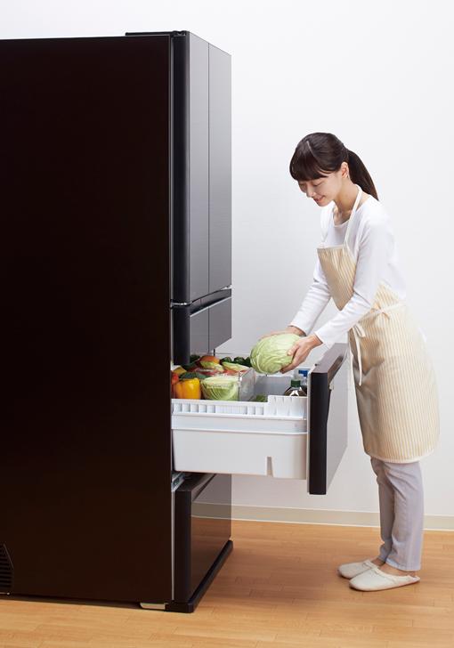 MXシリーズの真ん中野菜室の画像